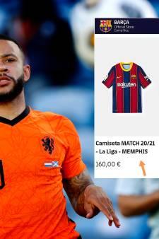 FC Barcelona in de fout: club zet shirt met naam Memphis Depay al te koop