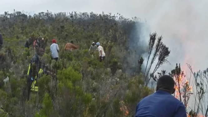 Brand op hoogste berg van Afrika breidt uit: kamp van bergbeklimmers geëvacueerd