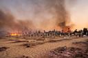 Brand op Sicilië.