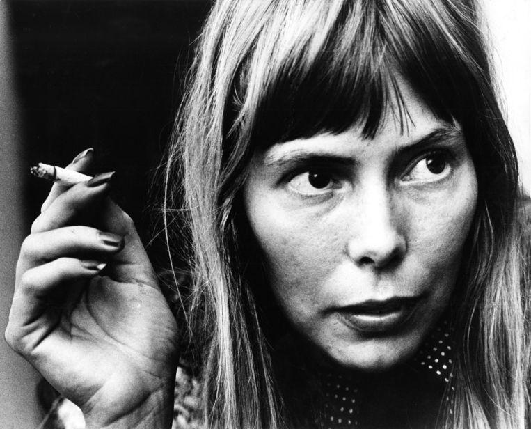 Joni Mitchell in Amsterdam, 1972. Beeld Redferns