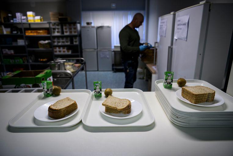 De Extra Begeleidings- en Toezicht Locatie (EBTL) voor overlastgevende asielzoekers in Hoogeveen. Beeld Hollandse Hoogte / Kees van de Veen