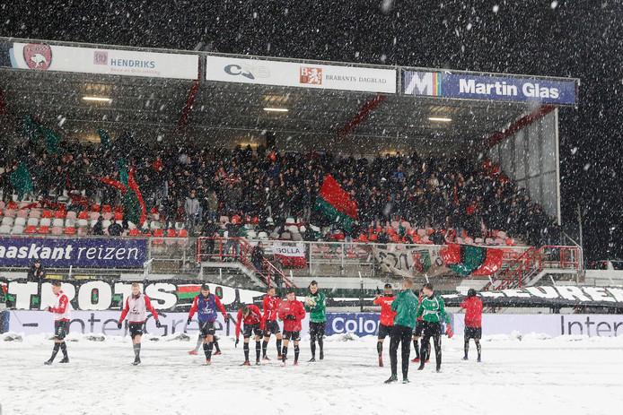 Vrijdag werd het duel FC Oss - NEC 20 minuten voor aanvang afgelast.
