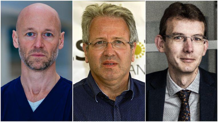 Geert Meyfroidt, Jan Stroobants en Roel Van Giel. Beeld KU Leuven, Belga, Tine Schoemaker