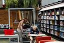De bibliotheek in de Broederenkerk in Zutphen.