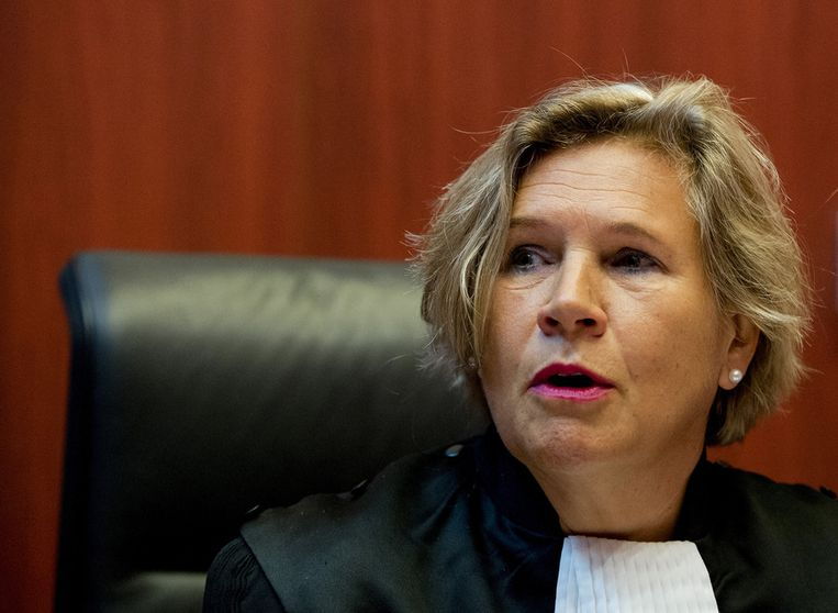 Voorzitter van de rechtbank mevrouw Anja van Holten Beeld anp