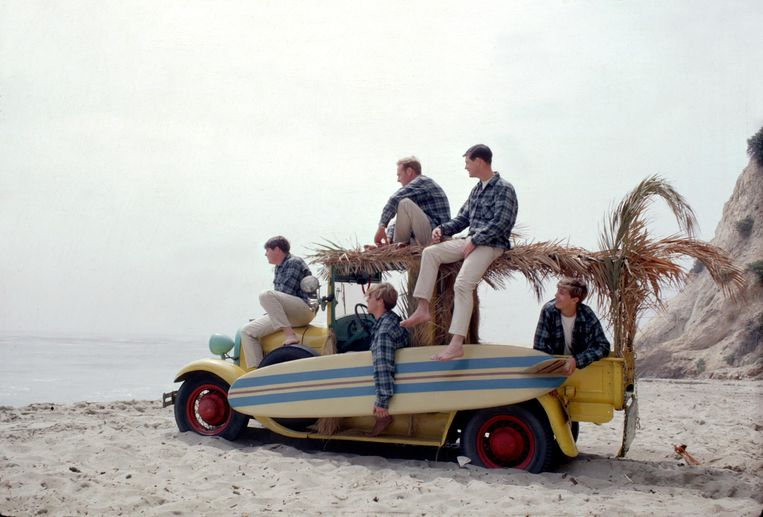 The Beach Boys in 1962 in Los Angeles. Beeld Getty
