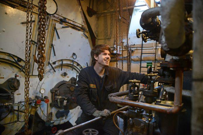 Alexander Rokven een tijdje geleden aan het werk in de Dockyard III.