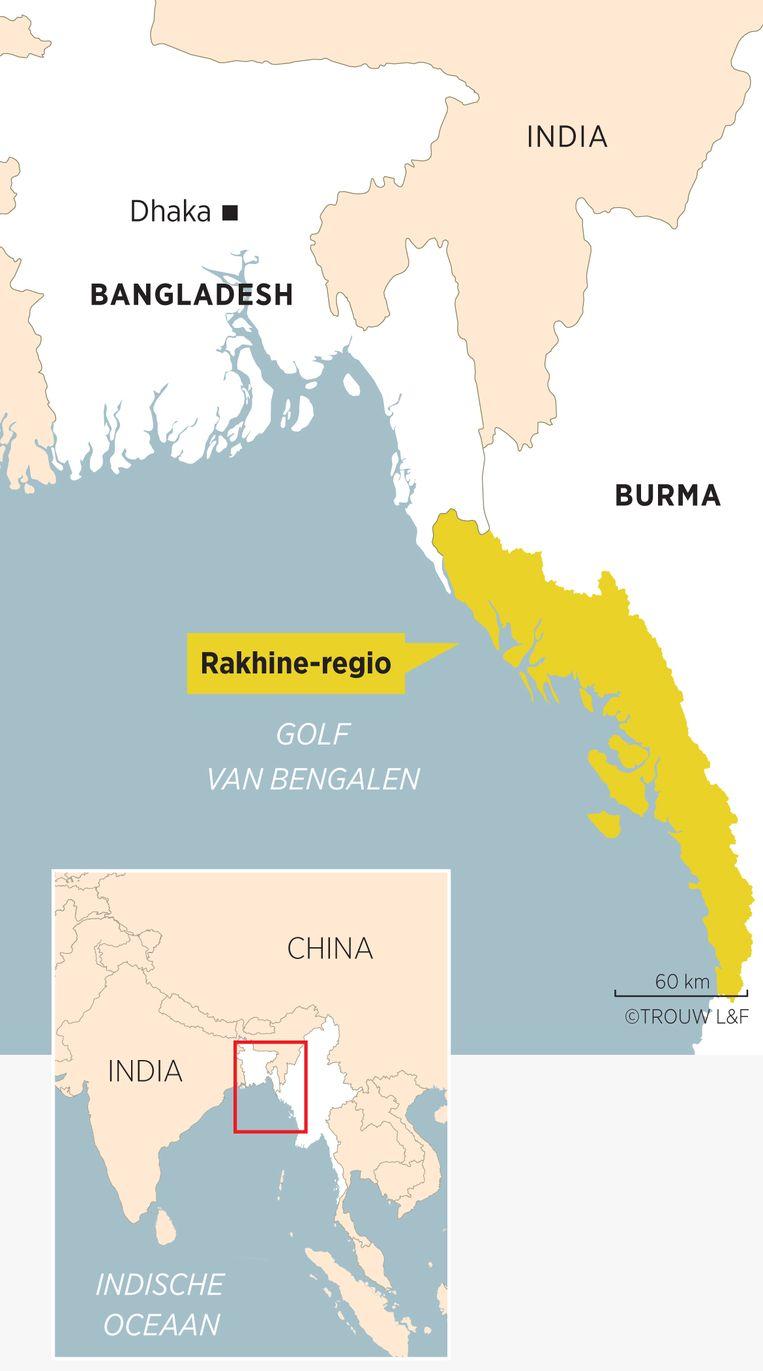 De Rakhine-regio in Burma Beeld Sander Soewargana