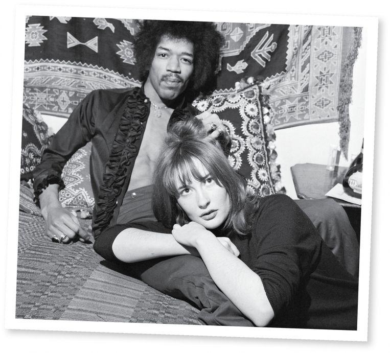 Hendrix en Kathy Etchingham Beeld