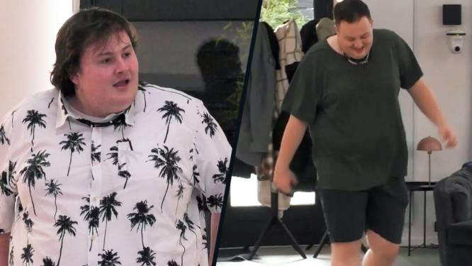 Bijna onherkenbaar: Thomas ging de strijd aan met zijn gewicht in 'Big Brother'