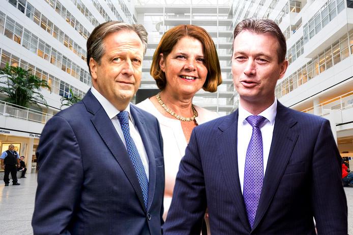 Van links naar rechts Alexander Pechtold, Marja van Bijsterveldt en Halbe Zijlstra. Drie totaal verschillende types die in aanmerking zouden kunnen komen voor de burgemeesterspost. Dat ze ook gaan solliciteren is nog niet gezegd.