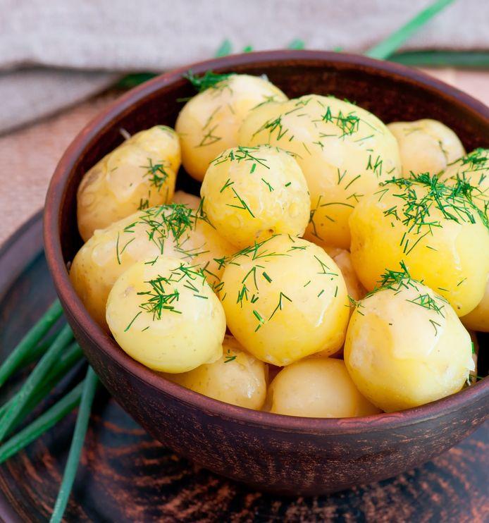 Gekookte aardappelen zijn afgekoeld nog net iets gezonder.