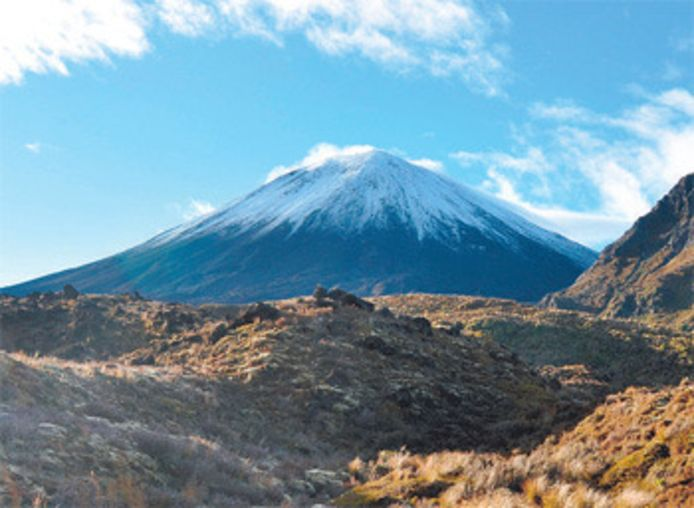 Mount Ngauruhoe in Tongariro National Park. Archieffoto.
