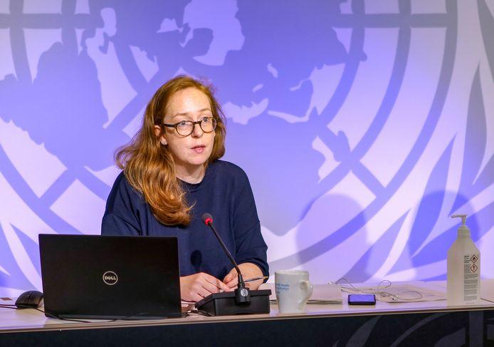 Catherine Smallwood van de WHO (World Health Organisation).
