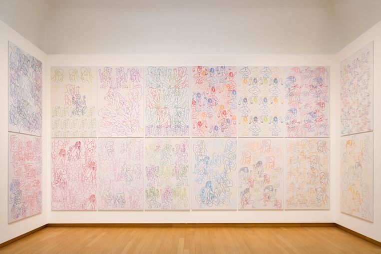 Carlos Amorales, 'Orgy of Narcissus' (2019).   Beeld Peter Tijhuis / Stedelijk Museum Amsterdam