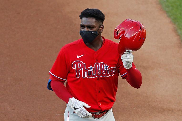 Korte stop Didi Gregorius van Philadelphia Phillies  is een van de grootste honkbalsterren die Curaçao heeft voortgebracht. Beeld AP