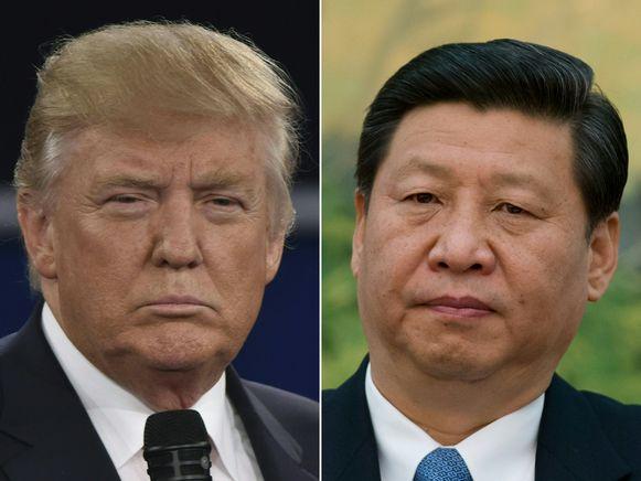 Archiefbeeld. De Amerikaanse president Donald Trump en de Chinese leider Xi Jinping.