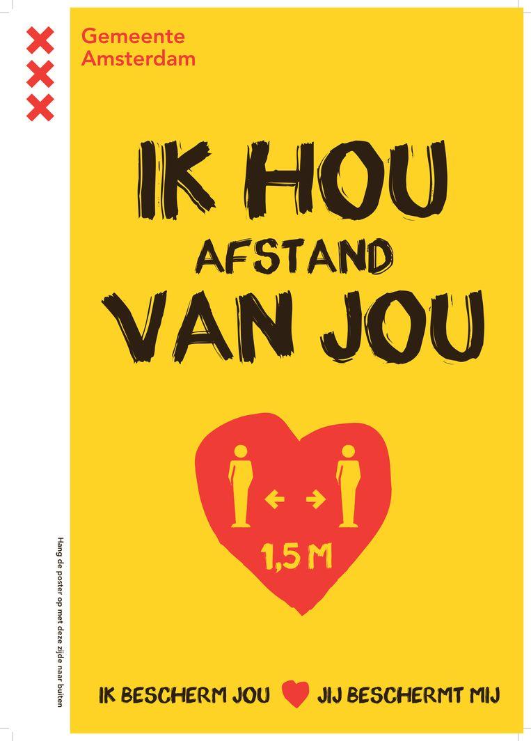 De campagneposter van de gemeente Amsterdam. Beeld