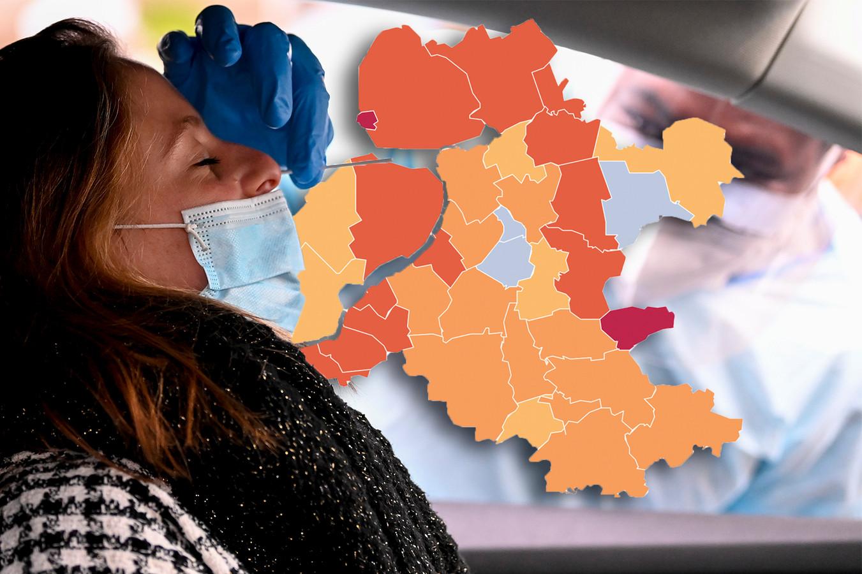 Landelijk stijgt het aantal coronabesmettingen vandaag, maar in Oost-Nederland niet overal.