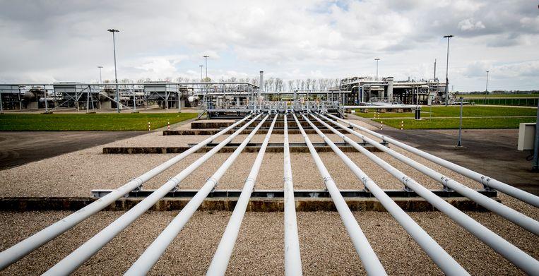 Gasbuizen op het gasveld Loppersum, Groningen. Beeld ANP