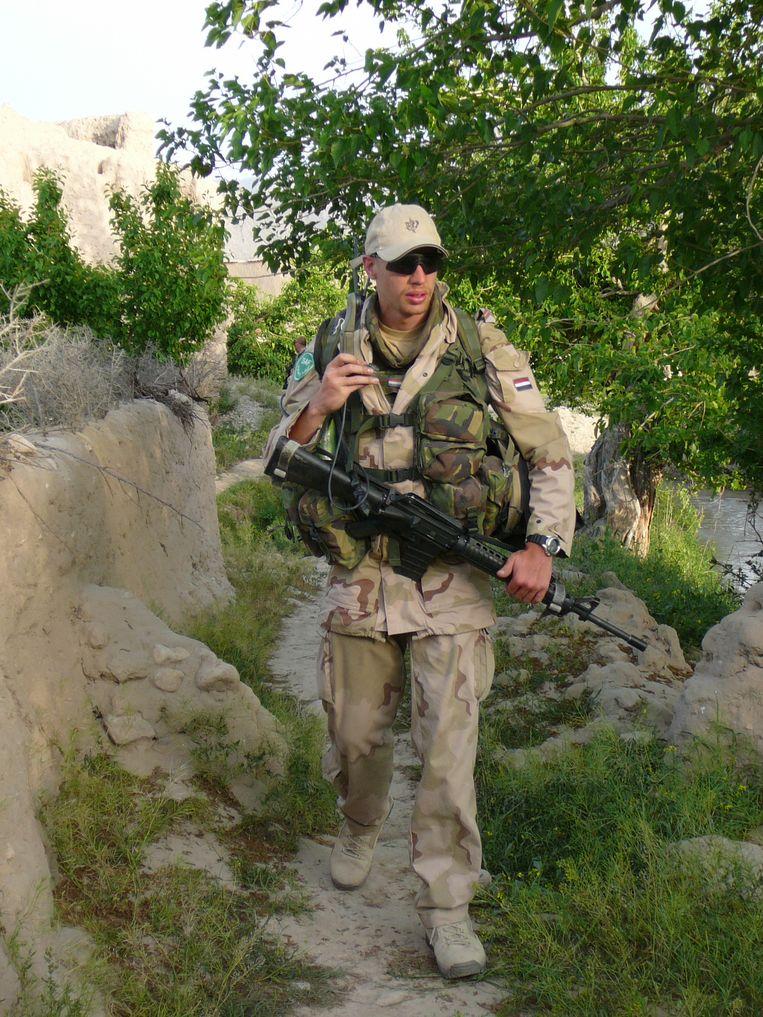 Roy Grinwis in Afghanistan. Beeld