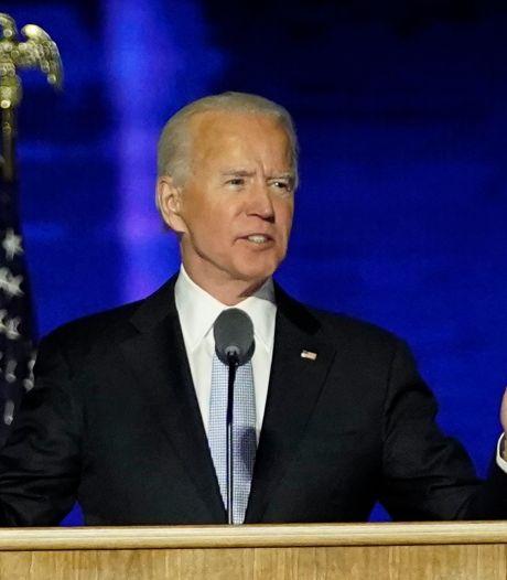 Biden wil verzoening en steekt hand uit naar Trump-kiezers: 'Tegenstanders zijn geen vijanden'