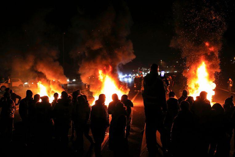 Actievoerders in Caen. Beeld AFP