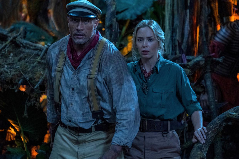 Dwayne Johnson en Emily Blunt in 'Jungle Cruise'. Beeld AP