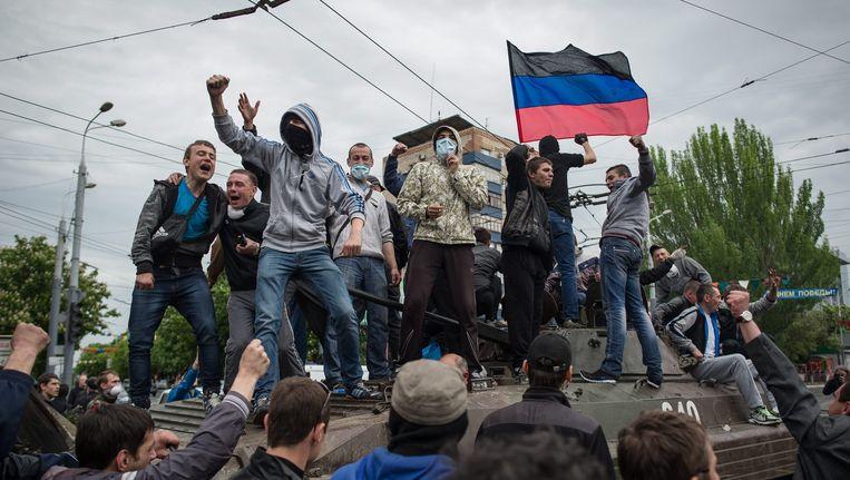Pro-Russische opstandelingen in Oekraïne.