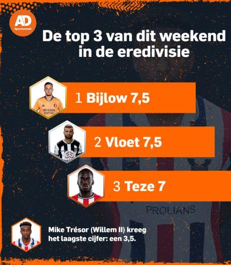 Bijlow en Vloet blinken uit, Trésor met wanprestatie symbool voor dolend Willem II