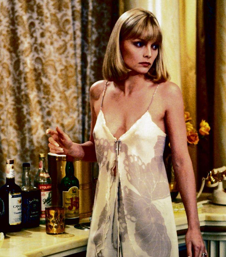 Michelle Pfeiffer in 'Scarface'. Beeld rv