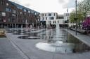 De fonteinen op het Dorpsplein in Kapellen.