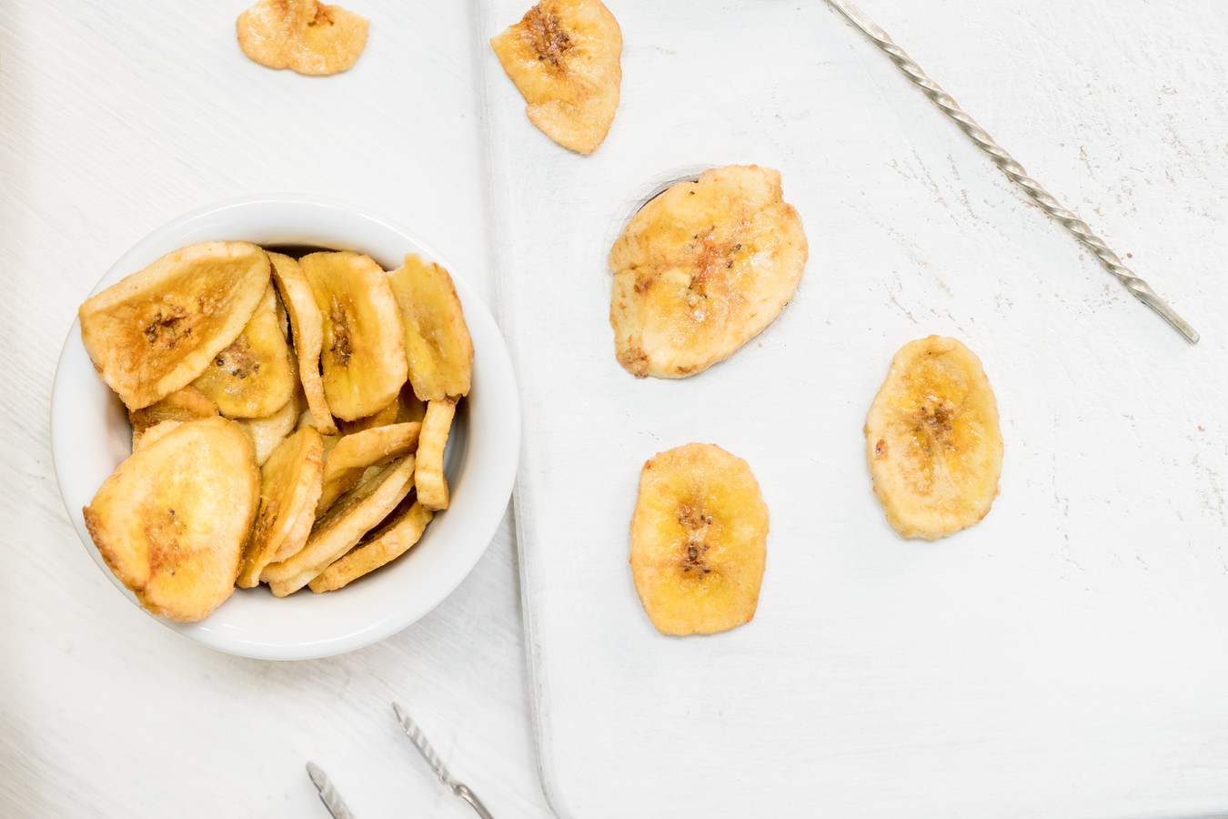 Bananenchips. Foto ter illustratie.