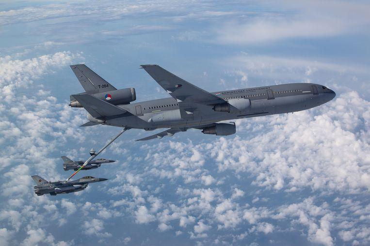 Het bijtanken van F-16's.  Beeld Koninklijke Luchtmacht