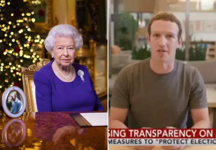 Amper van de echte te onderscheiden: de Britse koningin Elizabeth en Facebookbaas Mark Zuckerberg kwamen al voor in deze deepfake-beelden.