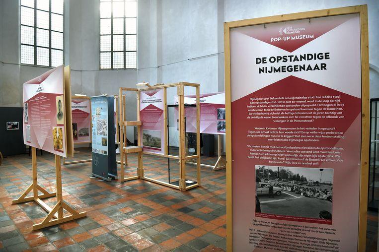 Pop-up museum De Opstandige Nijmegenaar Beeld Marcel van den Bergh