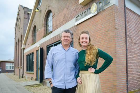 Topchef Peter Lute en initiatiefnemer Isabel Boerman.