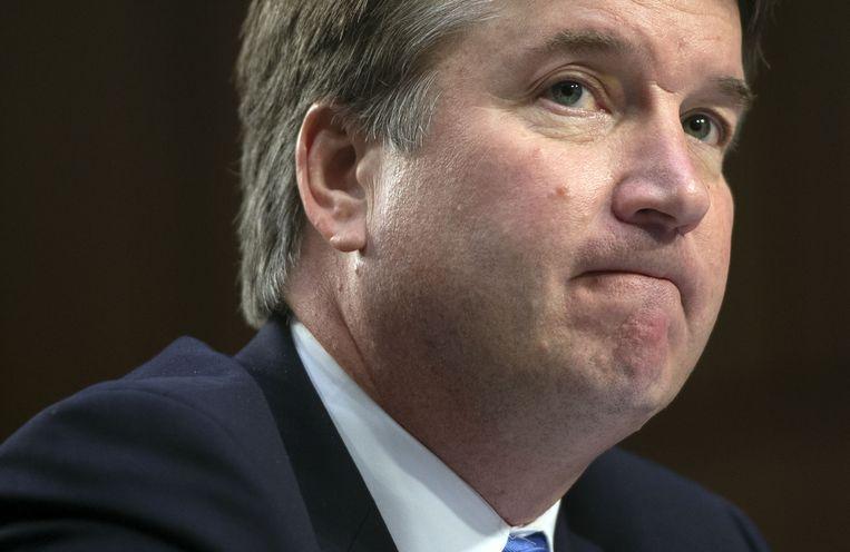 Brett Kavanaugh tijdens een hoorzitting op 5 september van de juridische  Senaatscommissie.  Beeld AFP