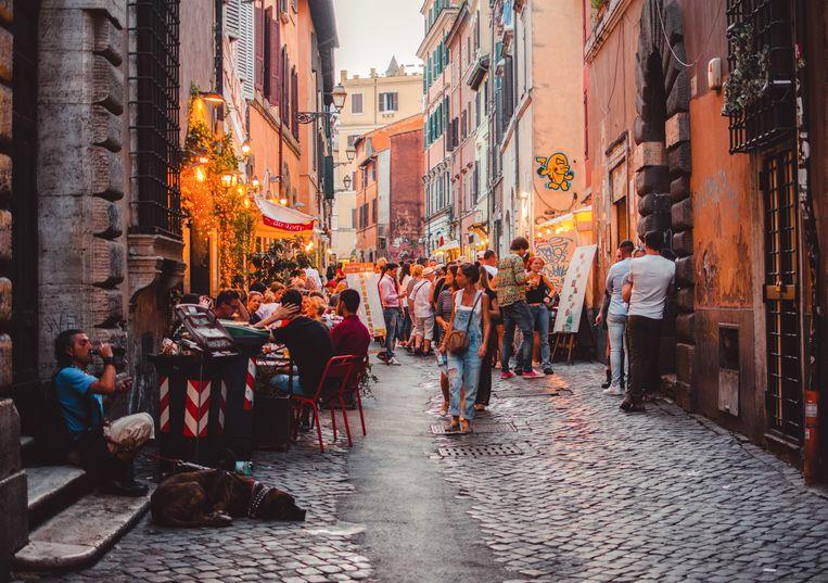 Samuel en Oliver maken samen altijd een bedevaart door de straten van Rome. Beeld Shutterstock