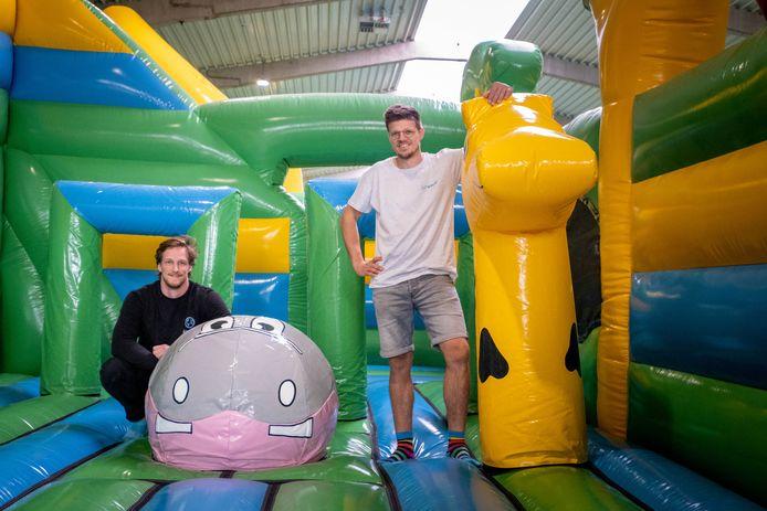 BORNEM Dieter Vermeulen & Ilan Merckx openen  indoor funpark Airworld in Klein Mechelen