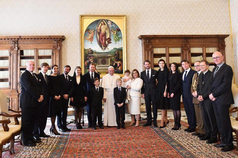De groothertogelijke familie ging in 2016 nog eendrachtig op audiëntie bij de paus.
