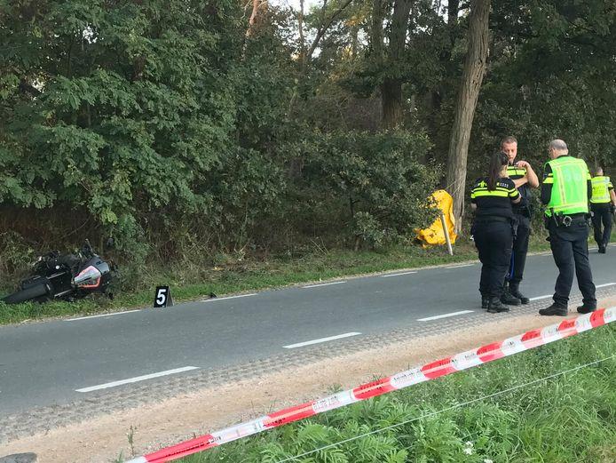 De betrokken motor bij het ongeluk in Helvoirt.