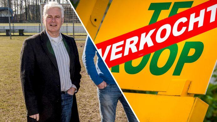 Makelaar Erik Stuivenberg uit Glanerbrug (links) vroeg het faillissement aan. Woningen worden zo snel en gemakkelijk verkocht, dat hun hulp al bijna niet meer nodig is. Het kostte zijn makelaarskantoor de kop.