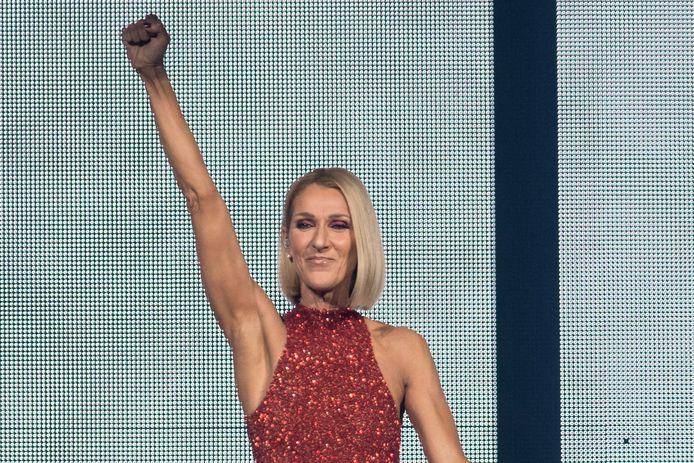 Céline Dion in Quebec op het eerste concert van haar 'Courage World Tour' in 2019