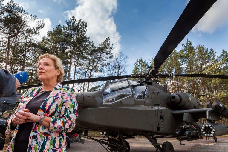 Minister Ank Bijleveld presenteerde deze week de Defensienota op de Generaal Majoor Kootkazerne Beeld Maarten Hartman