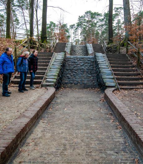Dat is raar: de Loenense waterval staat droog