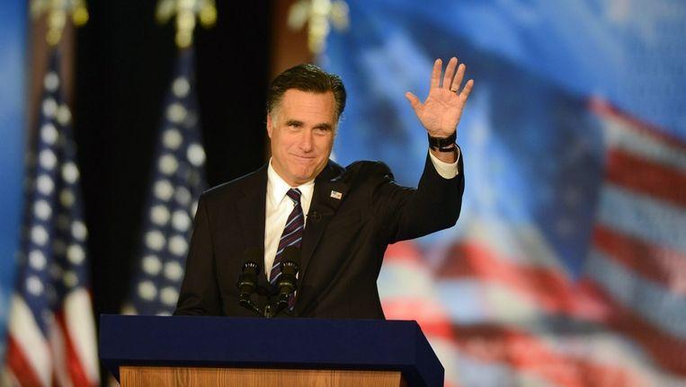 Mitt Romney tijdens zijn campagne Beeld epa