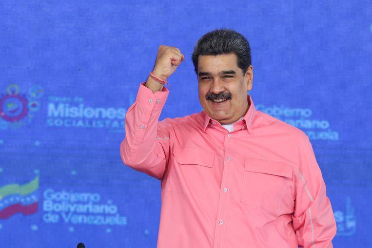 De Venezolaanse president Nicolás Maduro, die vaak het doelwit is van de kritische berichtgeving van de krant El Nacional. Beeld via REUTERS