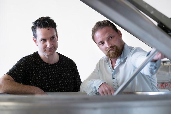 Steven Wieskamp en Dave  Andeweg.