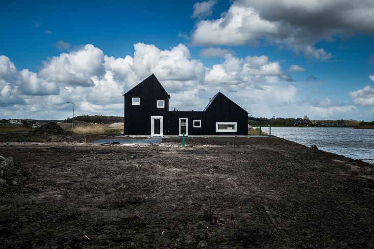 Nederland, Blauwestad, 17-04-'17; Bouwproject Blauwestad in Oost-Groningen. Beeld Kees van de Veen
